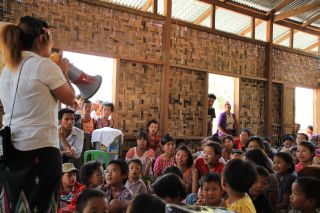 Hygiene promotion session for Kachin IDPs